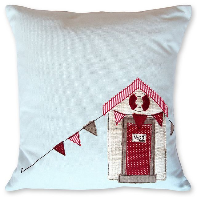back on to the cushions - Beach Hut Bunting