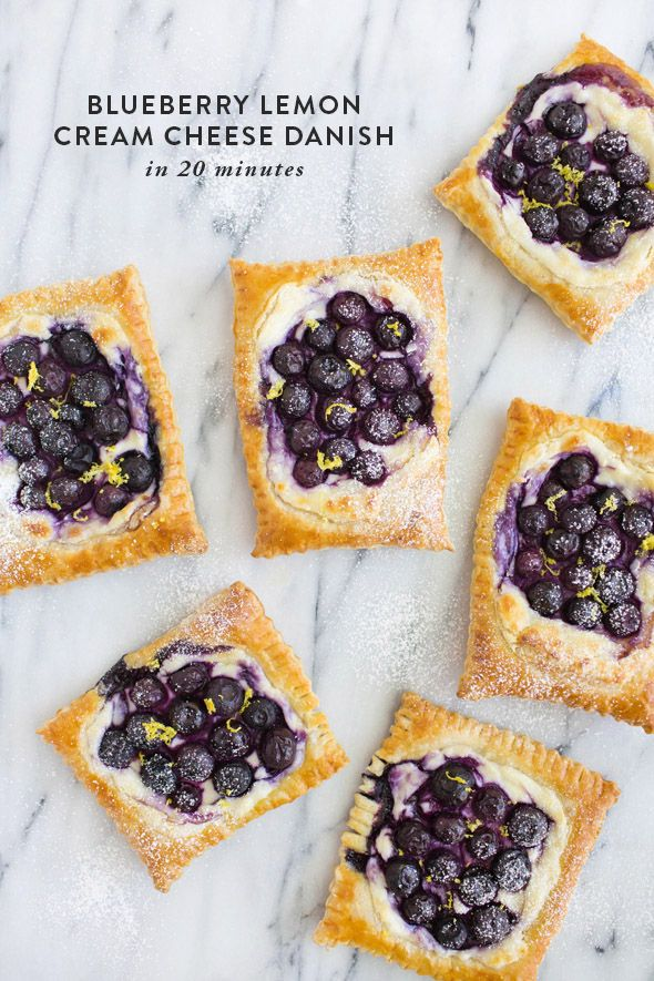lemon blueberry danish in 20 mins