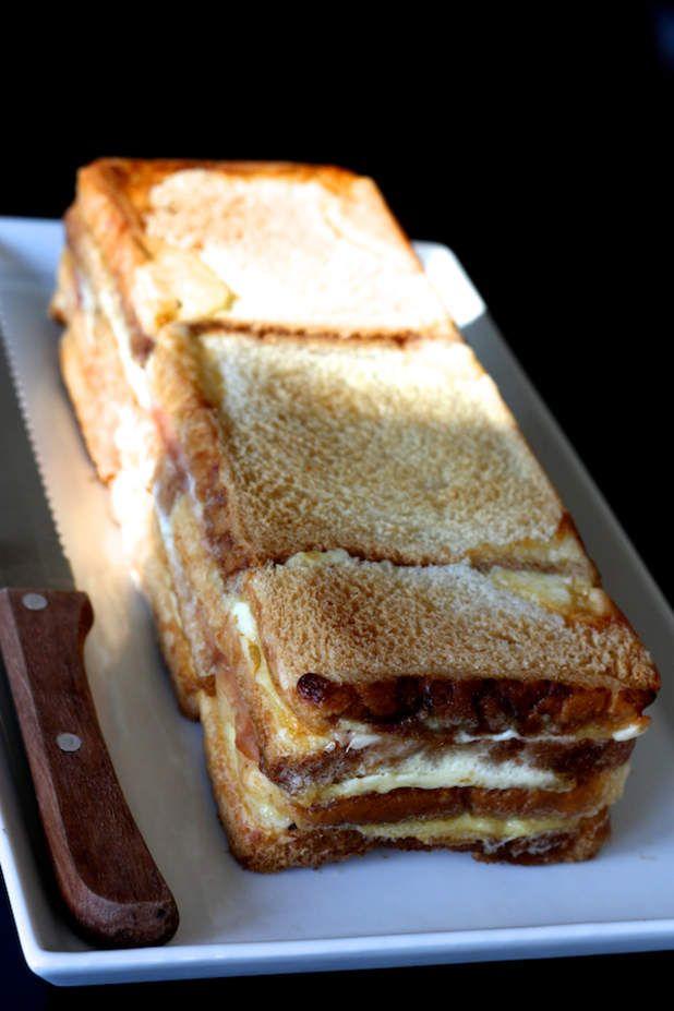 Croque cake rapideIssu du blogCuisine en scèneSimple et rapide, un croque-cake qui va droit au but, sans s'embarrasser d'éliminer les croûte du pain par exemple. Pour les gourmands pressés!Trouvé sur le Pinterest «Clochette Moulinette»