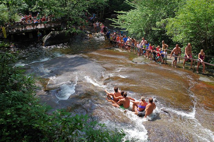 sliding rock and other swimming holes near Asheville, NC