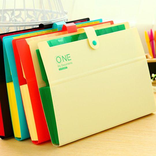 32.5 x 22 x 2.5cm Poly Expanding File Folder Organ Bag A4 Organizer Paper Holder Document Folder School Supplies