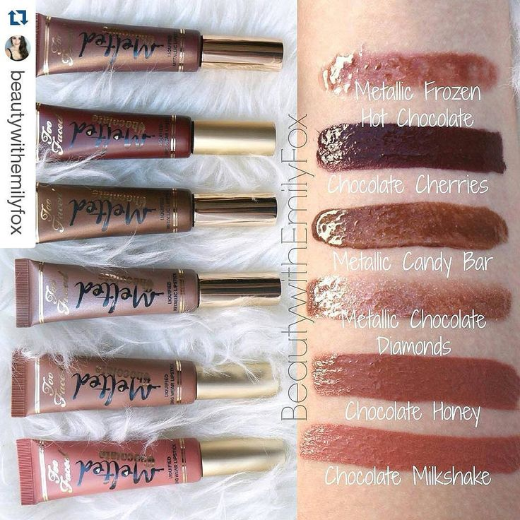 Too Faced Melted Chocolate lipstick collection for Spring 2016 #makeup (coming around January!)
