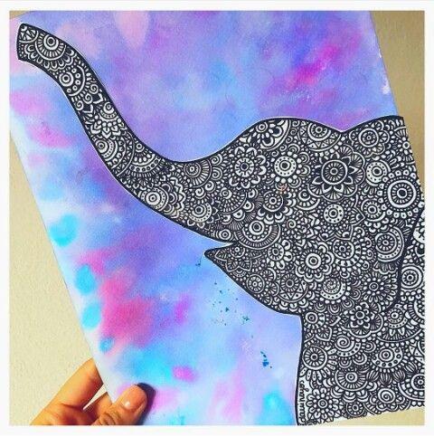 Elefantes de Dani Hoyos. Siganla en instagram todos sus hermosos dibujos los publica ahí!