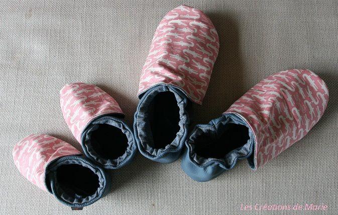 Tuto chaussons cuir souples pour enfants et adultes. Explications pour coudre vos propres chaussons en cuir maison. Tutoriel chaussons cuir souples.