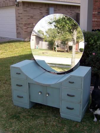 Houston: Antique Art Deco Vanity Shabby Chic $180   Http://furnishlyst.