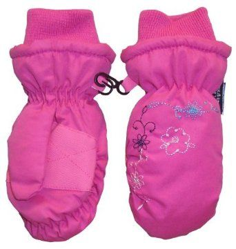 N'ice Caps Girls Ski Mitten with Flowers Embroidery (2T-4T, fuchsia/multi color flowers) N'Ice Caps TM. $9.95