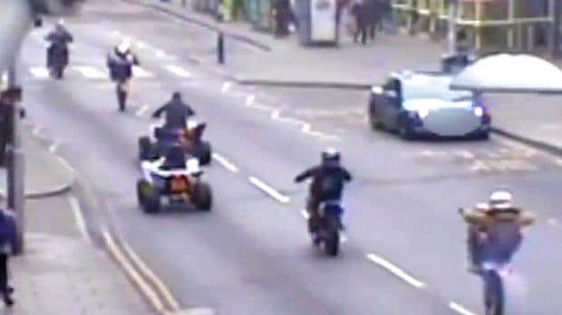 """Group of bikers cause mayhem in Nottingham city centre Sitemize """"Group of bikers cause mayhem in Nottingham city centre"""" konusu eklenmiştir. Detaylar için ziyaret ediniz. http://xjs.us/group-of-bikers-cause-mayhem-in-nottingham-city-centre.html"""