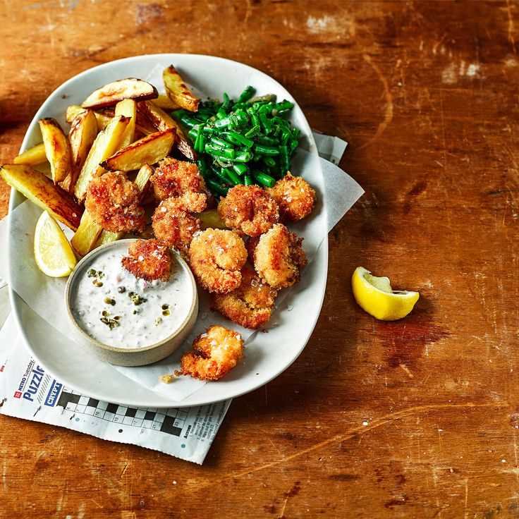 Posh Prawn Scampi and Chips from Gousto