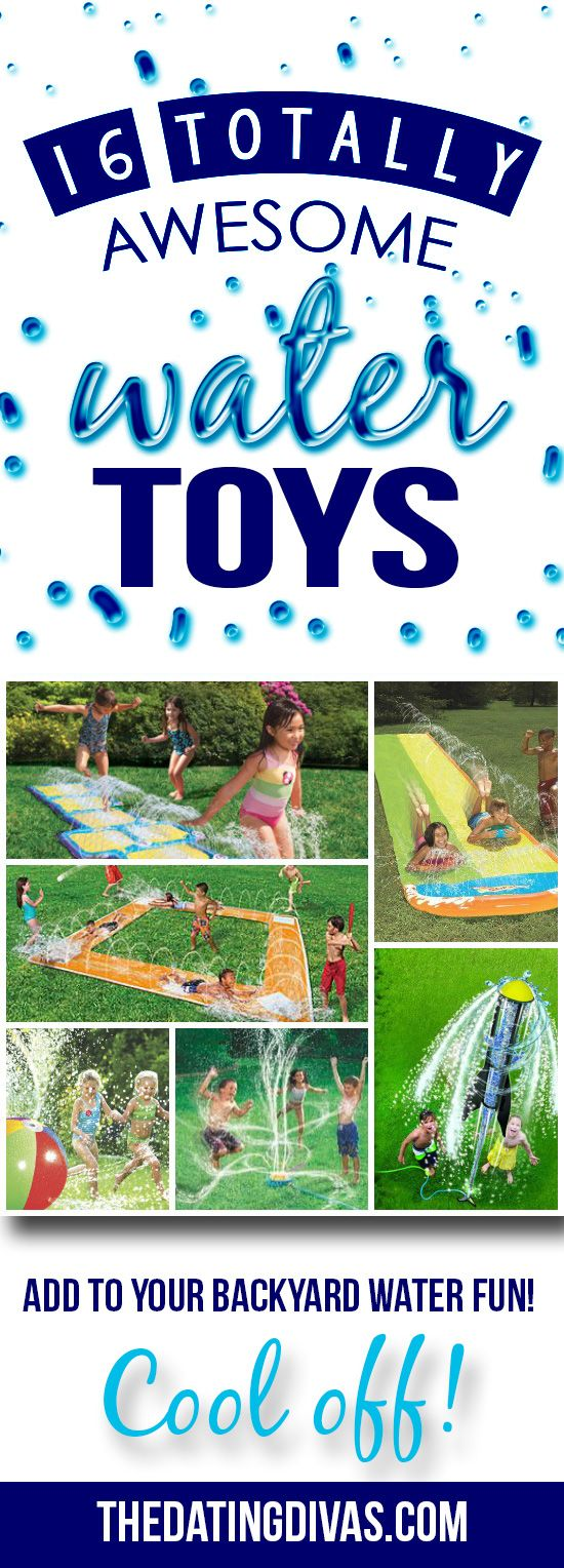 Awesome water toys for the backyard! My kids will LOVE these!