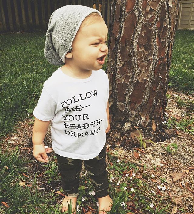 Follow The Leader kids graphic tee - Little Beans Clothing. Hipster baby clothes, baby boy fashion.