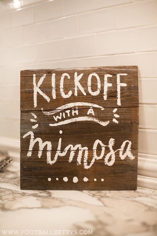 Mimosa Bar Mimosa Football Decor Hand