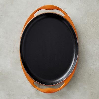 """Le Creuset Cast-Iron Sizzle Platter, 12 1/4"""", Flame"""