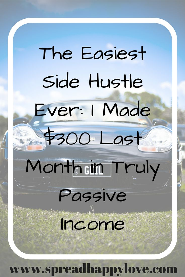 The Easiest Side Hustle Ever: I Made $300 Last Month in Truly Passive Income | Emma Conrad - Spread More Happiness Blog | Have you ever seen those ads on Facebook that offers to put an advertisement on your car and pay you for it? I saw the same post for months and never clicked on it because I figured it wasn't that simple -- but I finally clicked on it and after having a small advertisement in my car for a month, I made $300! And all it cost me was the shipping fee - it was so simple!