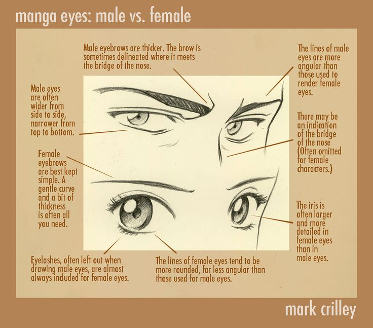 61 best mark crilley images on pinterest draw drawing ideas and manga eyes male vs female by markcrilley on deviantart ccuart Image collections