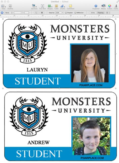 DIY Disney Monsters College Plastic Photograph ID Playing cards