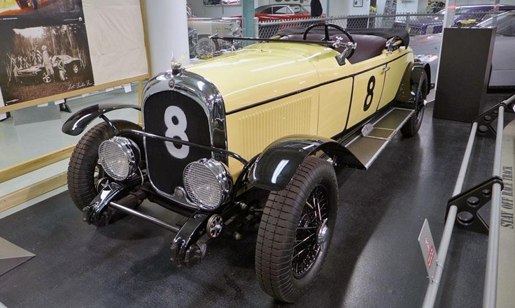 A 1928 Chrysler Model 72 LeMans racer replica is displayed in the basement of the Walter P. Chrysler Museum.  Photo by Graham Kozak.