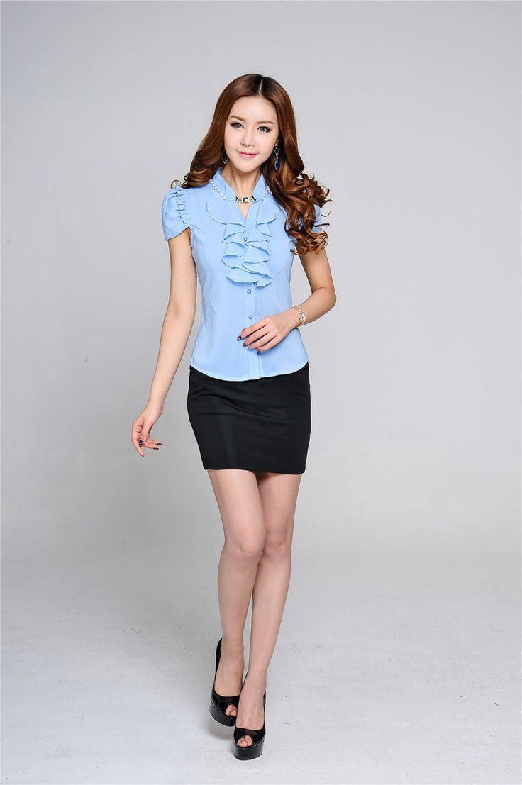 nuevo 2014 verano señoras formales trajes para las mujeres falda y blusa de juego más el tamaño de la moda en de en Aliexpress.com