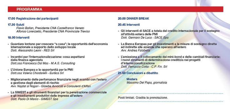 Programma evento 26 giugno 2014