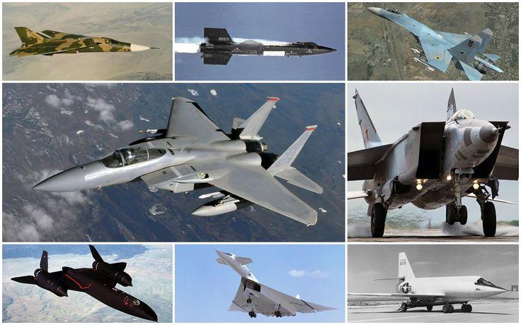De protótipos a aeronaves militares operacionais, aviões mais rápidos da história que já voaram a mais de 7.000 km/h