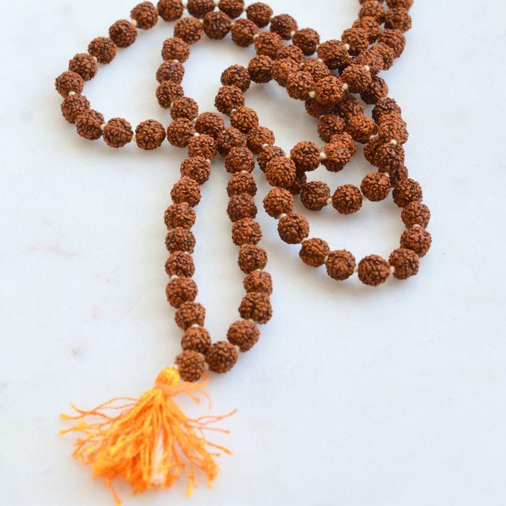 6mm Rudraksha Mala Beads, 6mm Rudraksha Beads, Hindu Mala Beads, Mala Making, How to Make a Mala,Natural Seed Beads, One Mala, MAN17-0112B by WanderlustWorldArts on Etsy