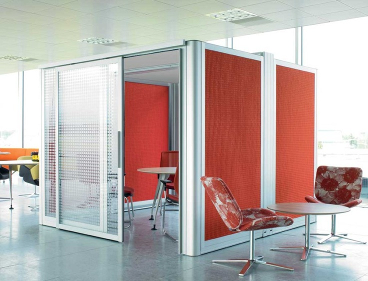 Mobile meeting space in open office floor plan