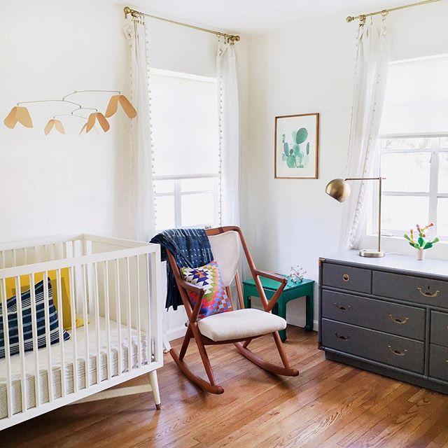mid-century modern nursery | angela hardison instagram