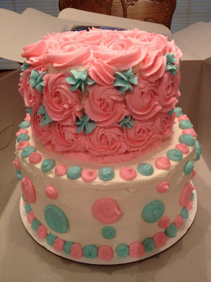 Baby shower rosette cake