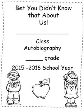Free Back To School Autobiography Project