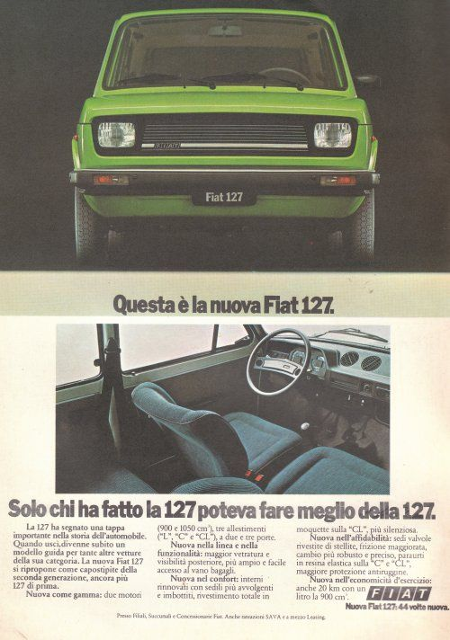 fiat 127 - a classic vehicle in a beautiful color!