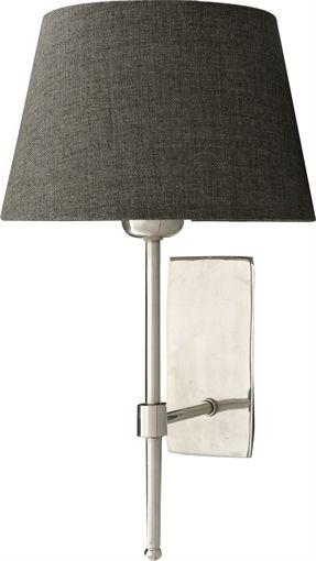 "Neptune Hanover Nickel Wall Lamp with 7.5"" Henry Slate Shade"