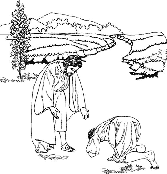 jesus heals the 10 lepers coloring pages | 10 Best images about JESUS HEALS THE TEN LEPERS !!! on ...