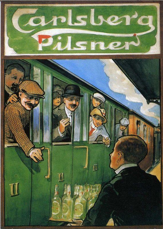 Vintage Carlsberg Lager Advertising Poster by VintagePosterShopUK
