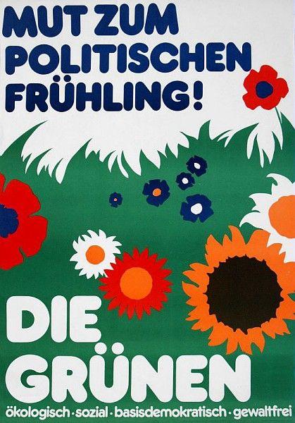 Mut zum politischen Frühling, affiche des Grünen /  Collections du Musée du Vivant - AgroParisTech