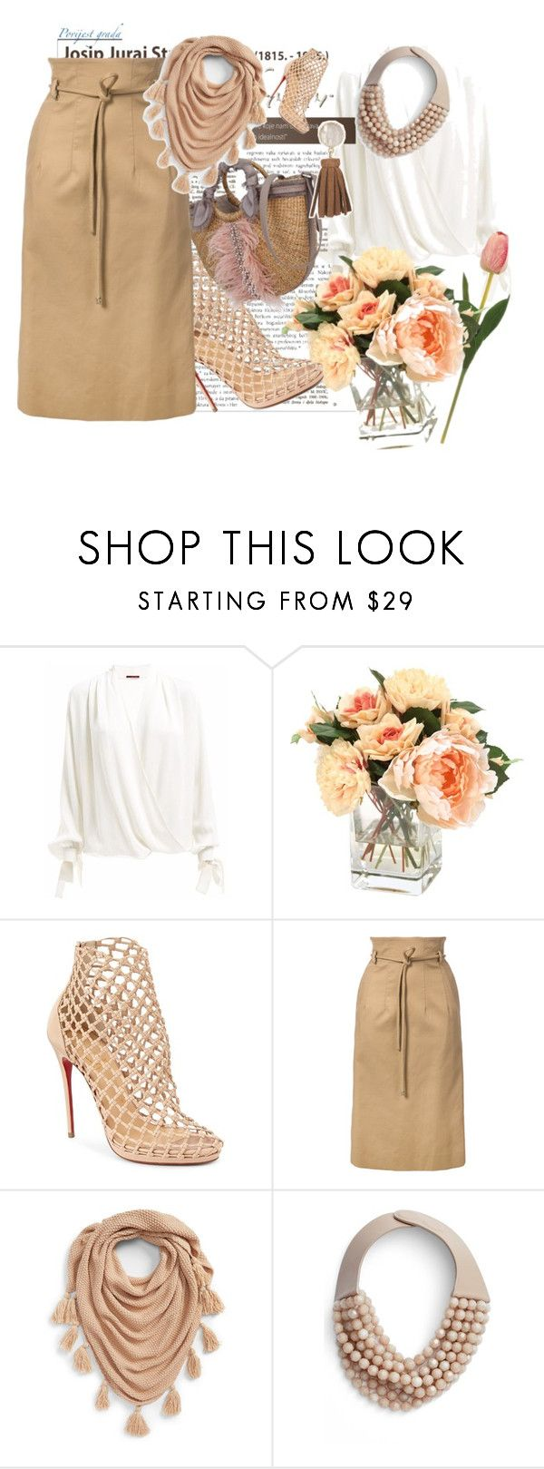 """Untitled #262"" by santyfebrina-nasution ❤ liked on Polyvore featuring Christian Louboutin, Oscar de la Renta, NYC Underground, Fairchild Baldwin and Chico's"