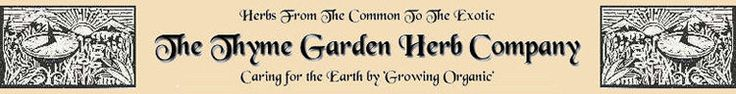 Thyme Garden Herb Company organically grown herbs, herb seeds, plants, and hops.
