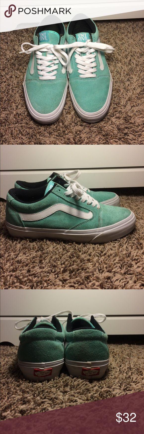 Vans TNT Tony Trujillo skate shoes Mint green vans men's size 6.5 great condition a few spots see pictures Vans Shoes Sneakers
