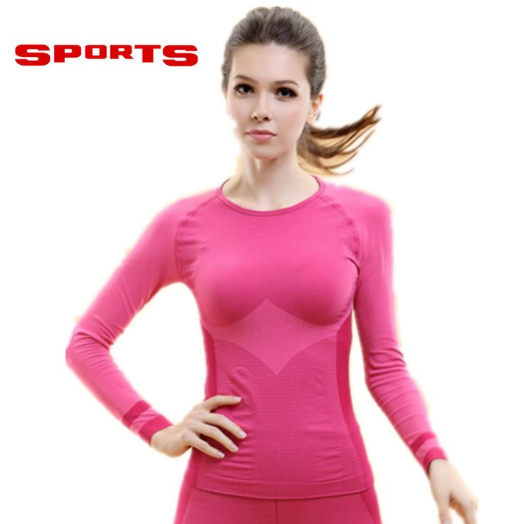 2016 Women's Sport T-shirts Gym Yoga Compression Shapers Dry Quick Running Short Long Sleeve T-shirts Fitness Women Tees & tops
