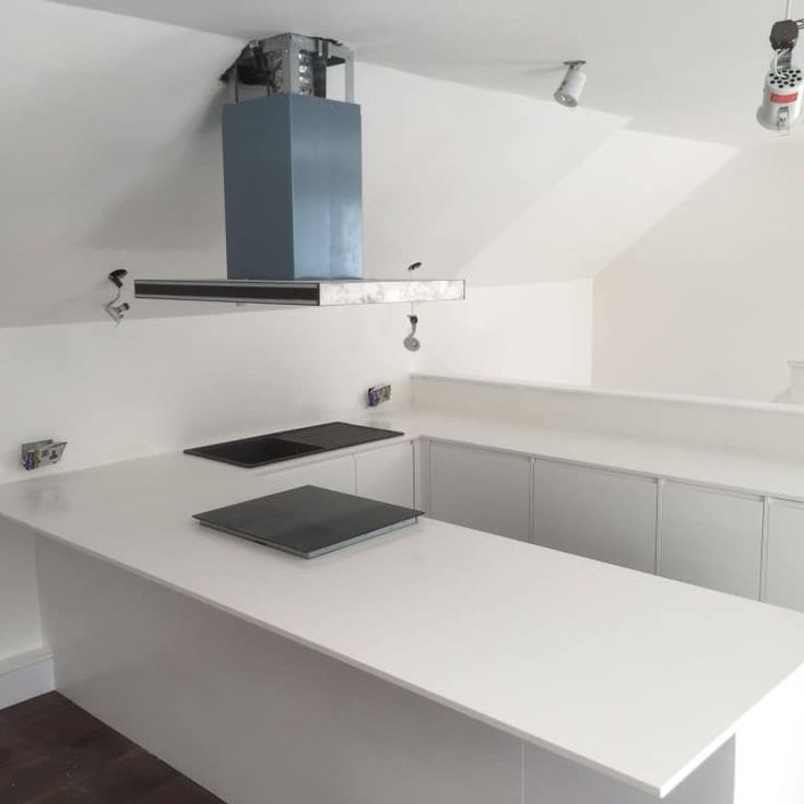 This all white kitchen is made up of the Bianco Puro. It has proven to be very popular and when we fitted this we had already fitted 4 more of this style quartz in other kitchens.