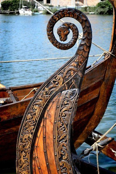 viking boat heads