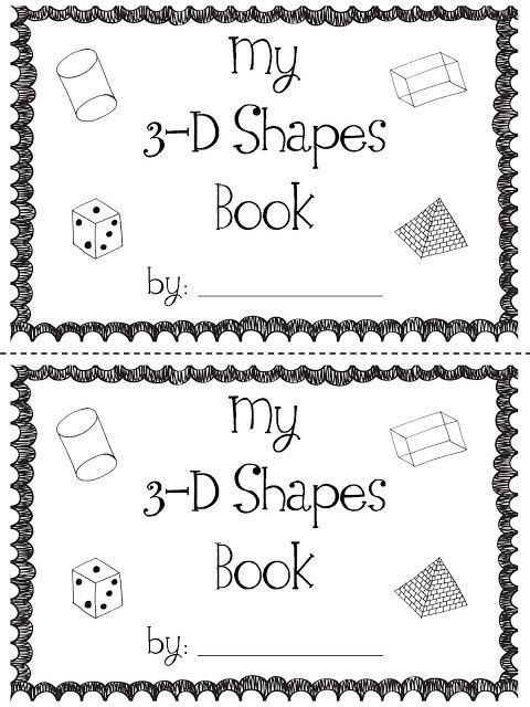 mrs. prince & co.: 3-D Shapes Book!