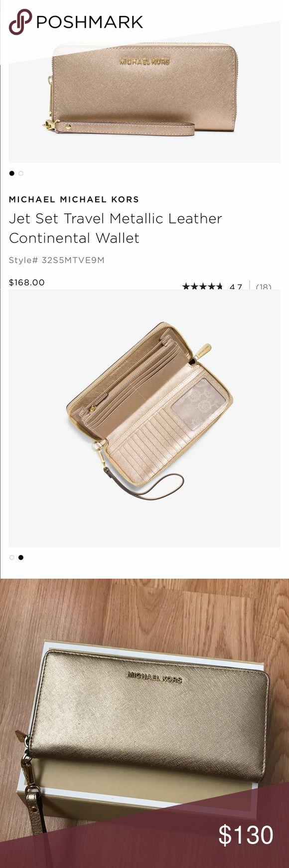 Michael Kors Jet Set Metallic Wallet Cute good condition Michael Kors Bags Wallets
