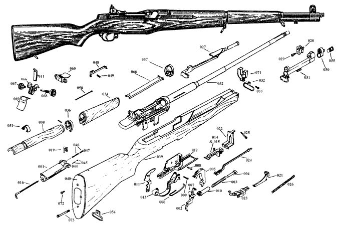 20 best m1 garand exploded drawing   bm59 images on