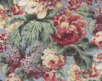 Vintage Floral Garden - Jaqueline Smith Fabric - Upholstery Fabric By Yhe Yard