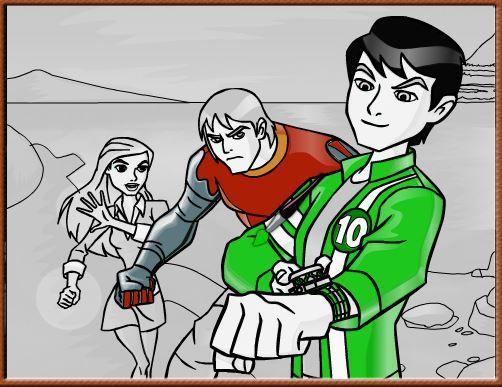 Jogos de colorir online: Bem 10 e Seus Amigos