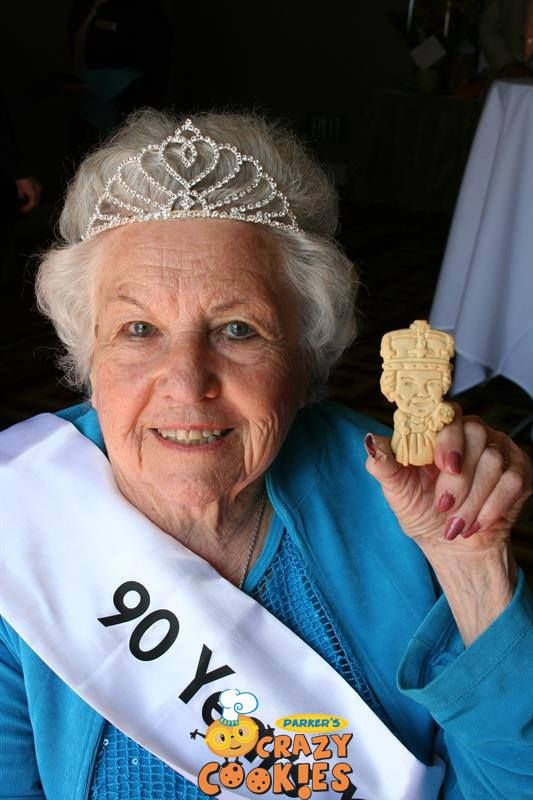 90th Birthday Party Ideas - Custom Cookies - Unique Gifts - Edible Favors - Queen for a day