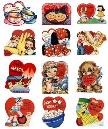 These adorable vintage Valentines are free printables. Lot more featured @Skip to my Lou