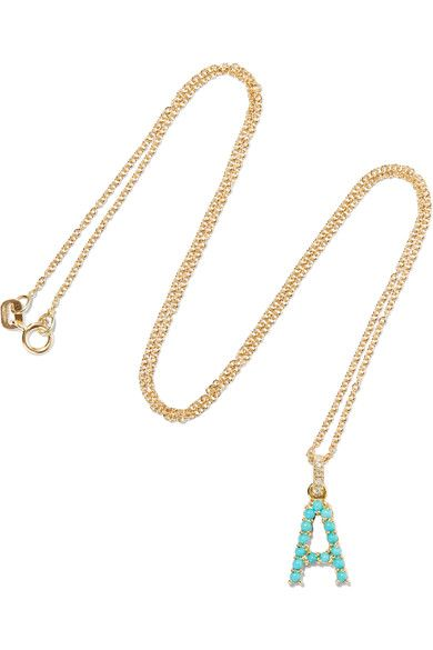 Jennifer Meyer - 18-karat Gold, Diamond And Turquoise Necklace - N