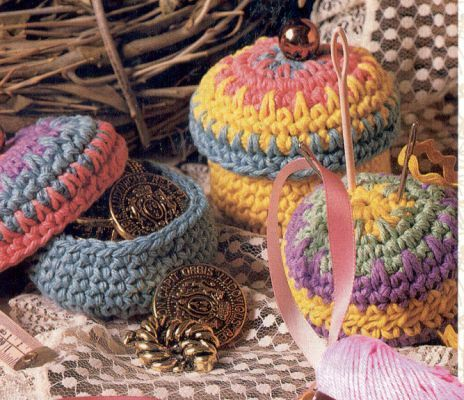 Free Crochet Patterns For Sugar And Cream Yarn : Free pattern notion boxes. Cute 3