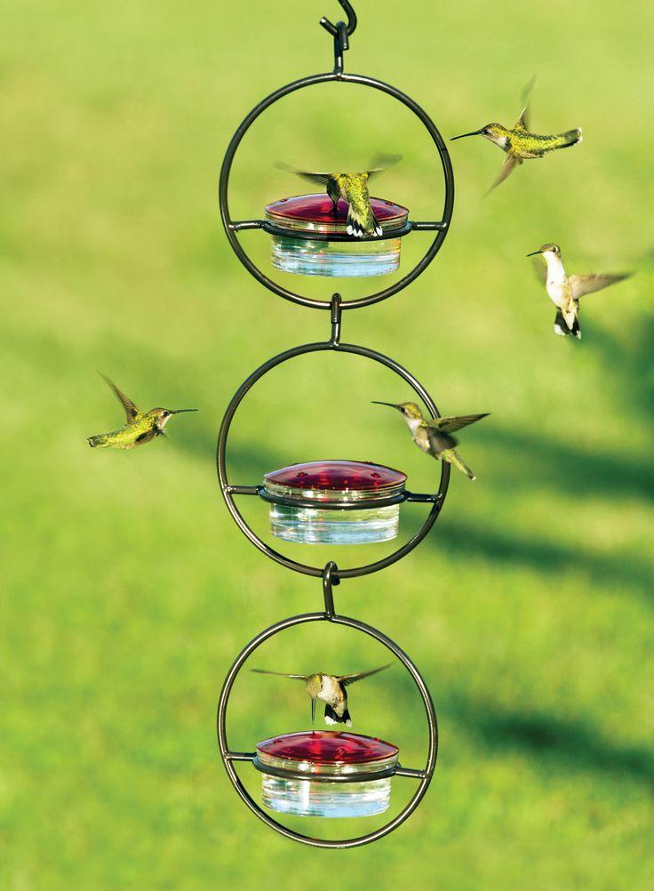 Sphere Hummingbird Feeder, Set of 3 Glass hummingbird