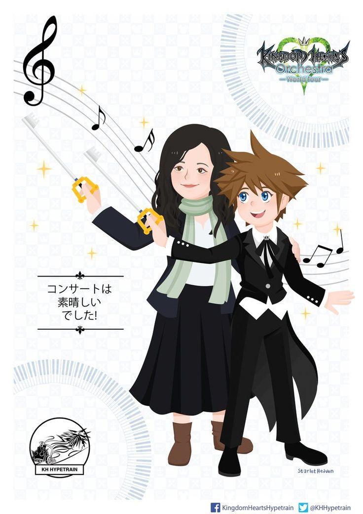 Yoko Shimomura and Sora! by StarletHeaven.deviantart.com on @DeviantArt